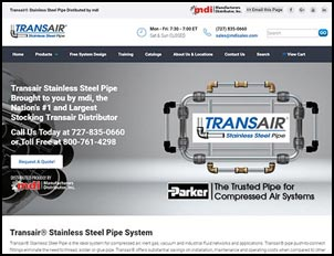 Transair Stainless Steel Compressed Air Pipe Sales